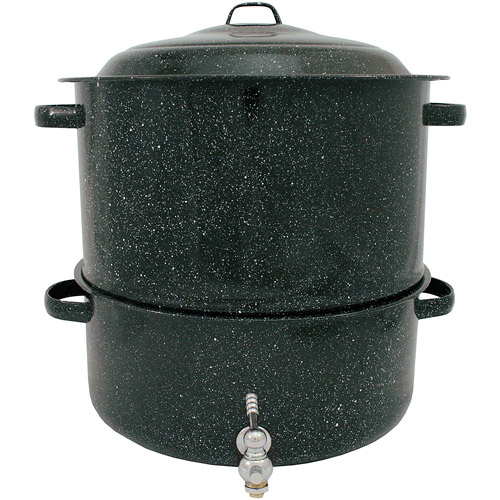 Granite Ware 19-Qt Clam and Lobster Seafood Steamer Pot with Faucet, 2-Piece