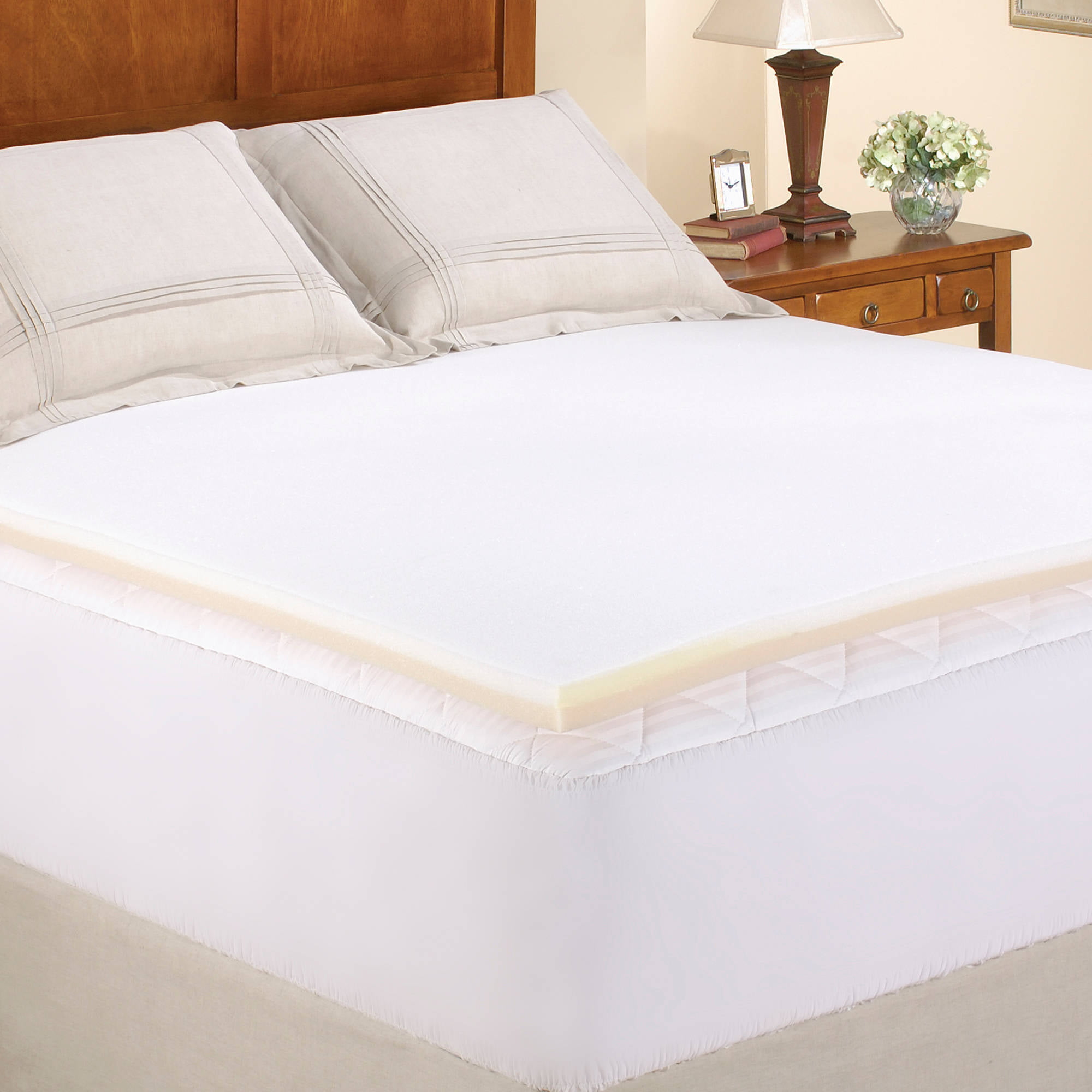 Mainstays 1 375 Inch Memory Foam Combo Mattress Topper Multiple