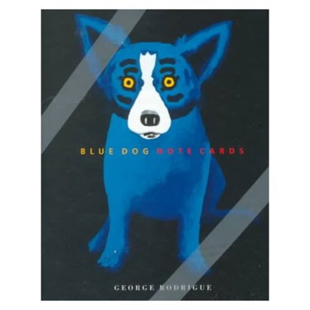 Blue Dog Note Cards [With 15] by