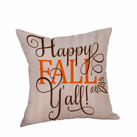 Happy Halloween Pillow Cases Linen Sofa Cushion Cover Home - Happy Halloween Cover Pics