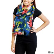 In Things Corp Handmade Saachi Women's Floral Watercolor Scarf (China)