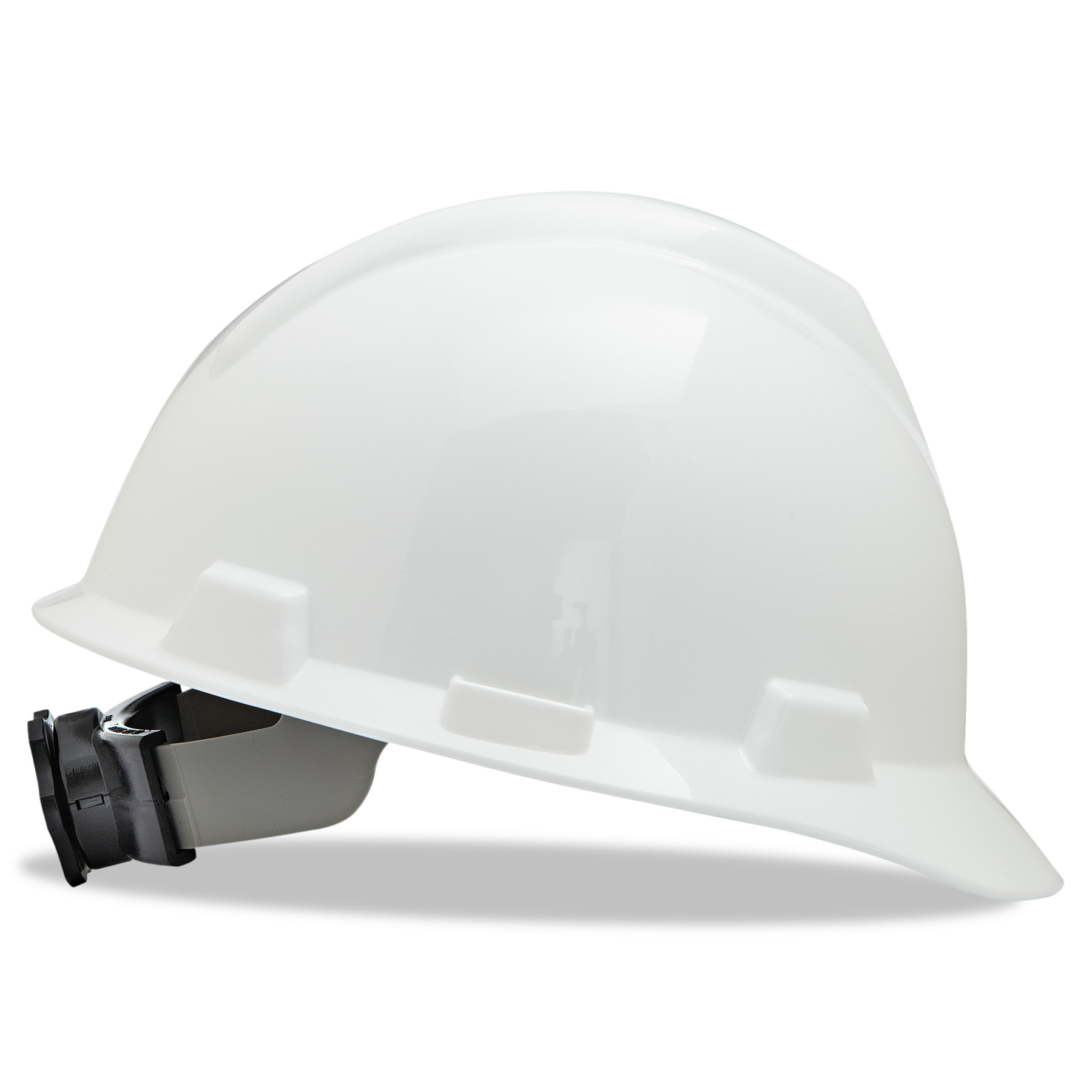 MSA V-Gard Hard Hats w Ratchet Suspension, Large Size 7 1 2 8 1 2, White by SAFETY WORKS