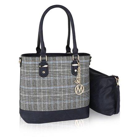 Burton Plaid Bag (MKF Collection Mya Plaid Tote with Crossbody Bag by Mia K. Farrow )