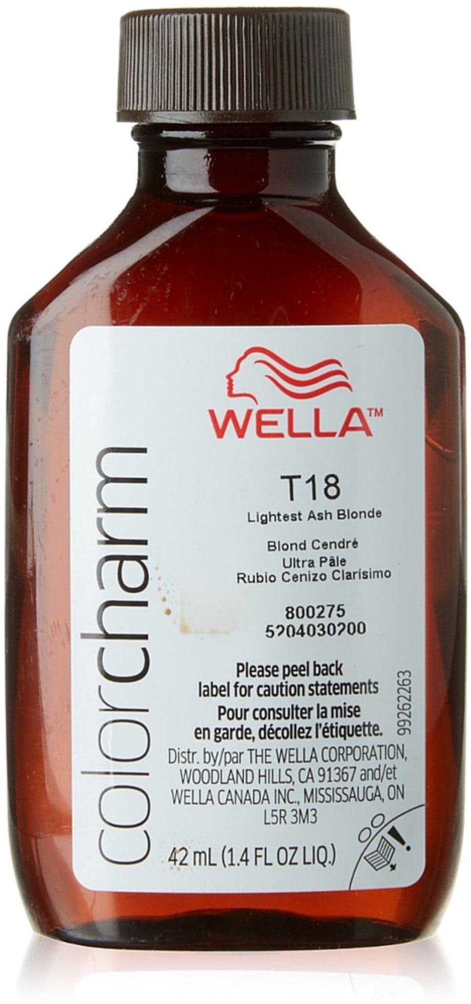Wella - Wella Color Charm, Hair Color Permanent Liquid Hair Toner, Lightest  Ash Blonde [T18], 1.40 Oz - Walmart.com