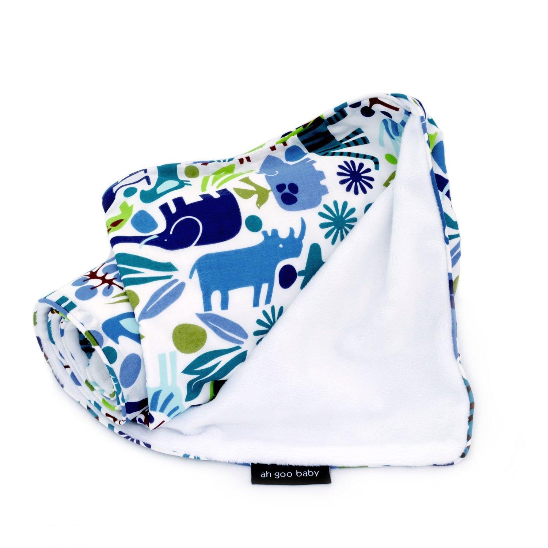Image of Ah Goo Baby Stroller Blanket - Zoo Frenzy