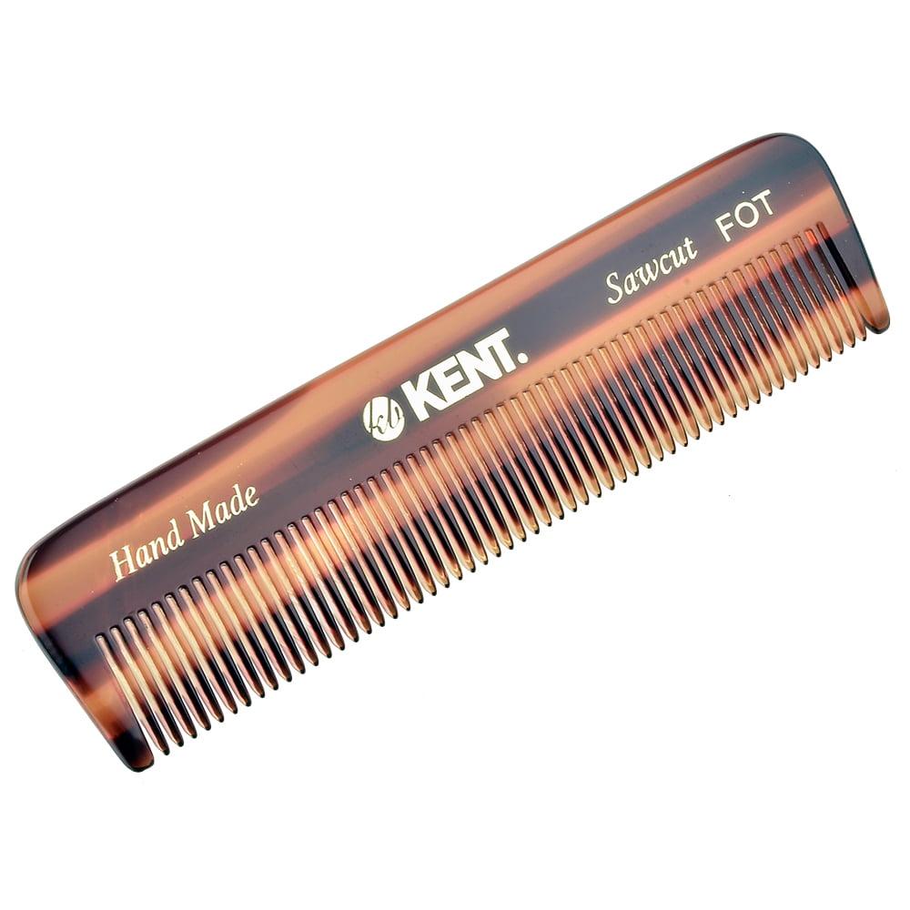 "Kent FOT 4 1/2"" 112mm Handmade All Fine Pocket Comb for Styling Medium or Fine Hair"