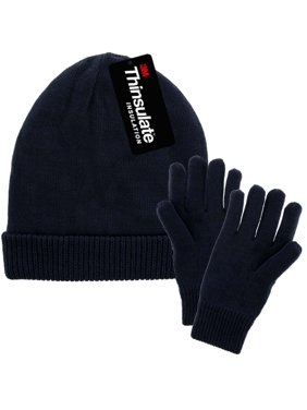81989436f75 Product Image DG Hill Mens Winter Hat And Gloves Set with 3M Thinsulate  Fleece Lining Beanie