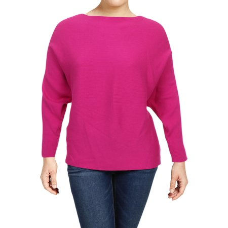 - Lauren Ralph Lauren Womens Alsah Dolman Boatneck Pullover Sweater Pink 2X