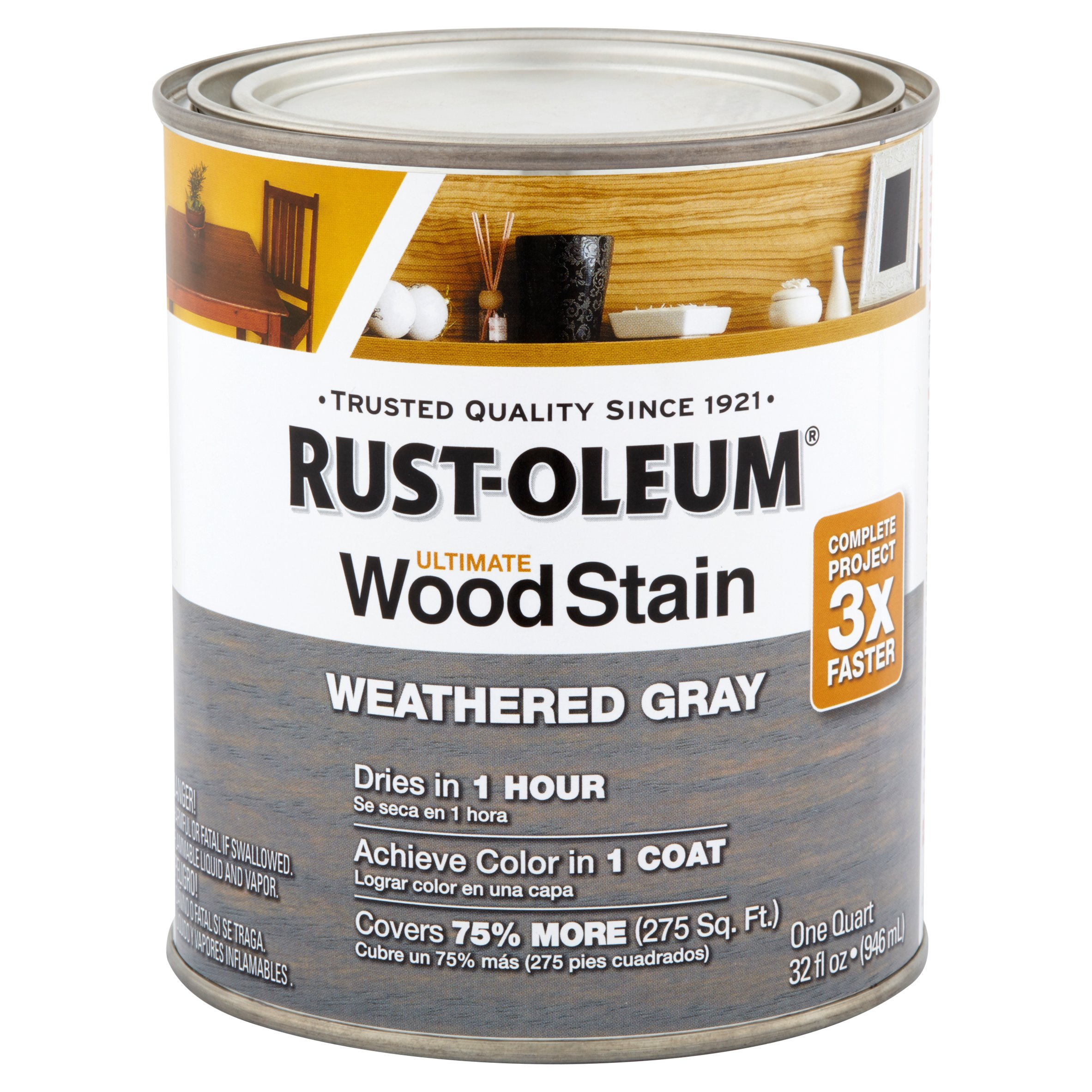 Rust Oleum Weather Gray Ultimate Wood Stain 32 Fl Oz