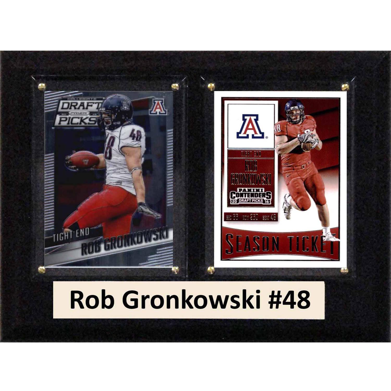 "C & I Collectables NCAA 6"" x 8"" Rob Gronkowski Arizona Wildcats 2 Card Plaque"