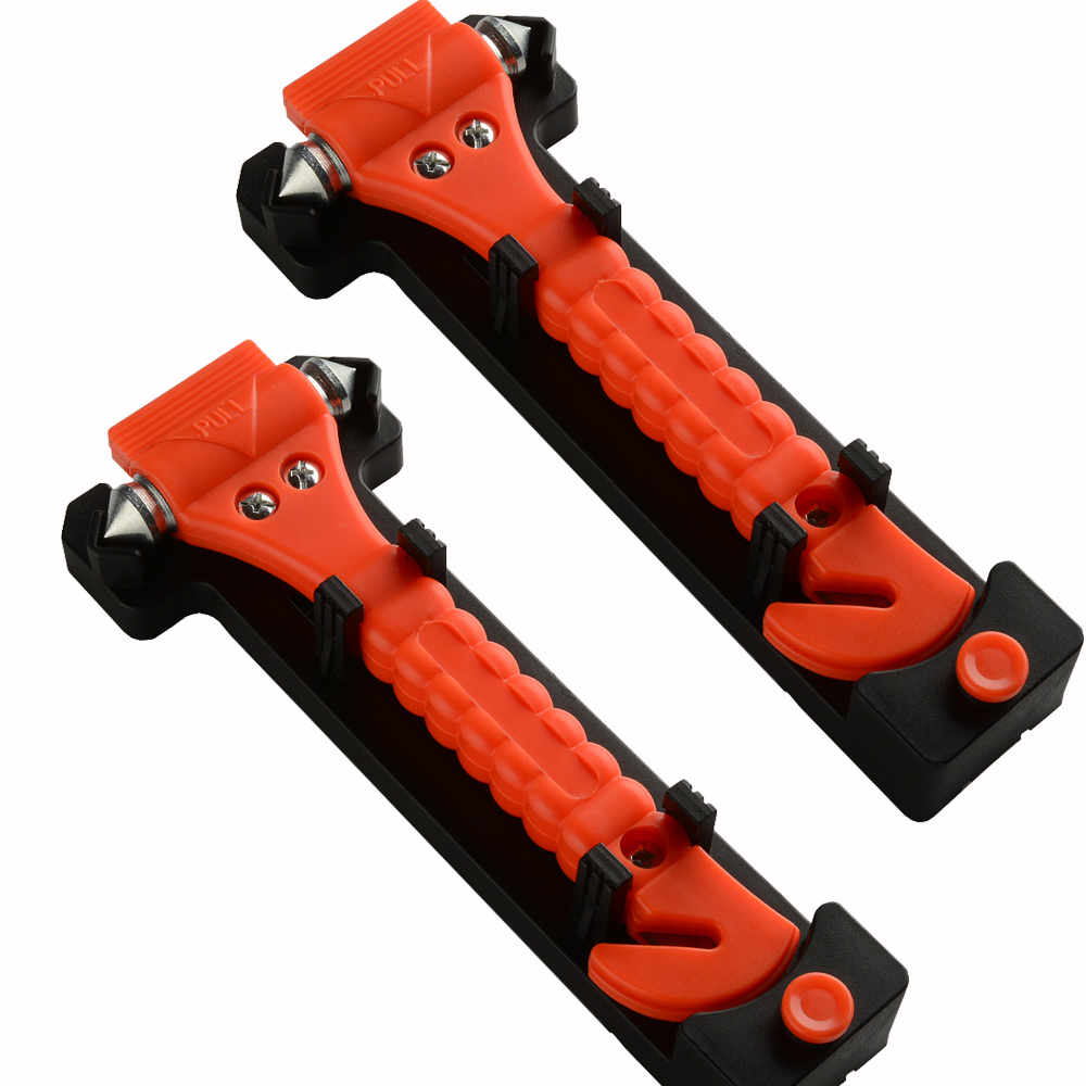 Emergency Car Window Breaker and Seat Belt Cutter Auto Safety Rescue Punch Hammer Escape Tool 2PCS