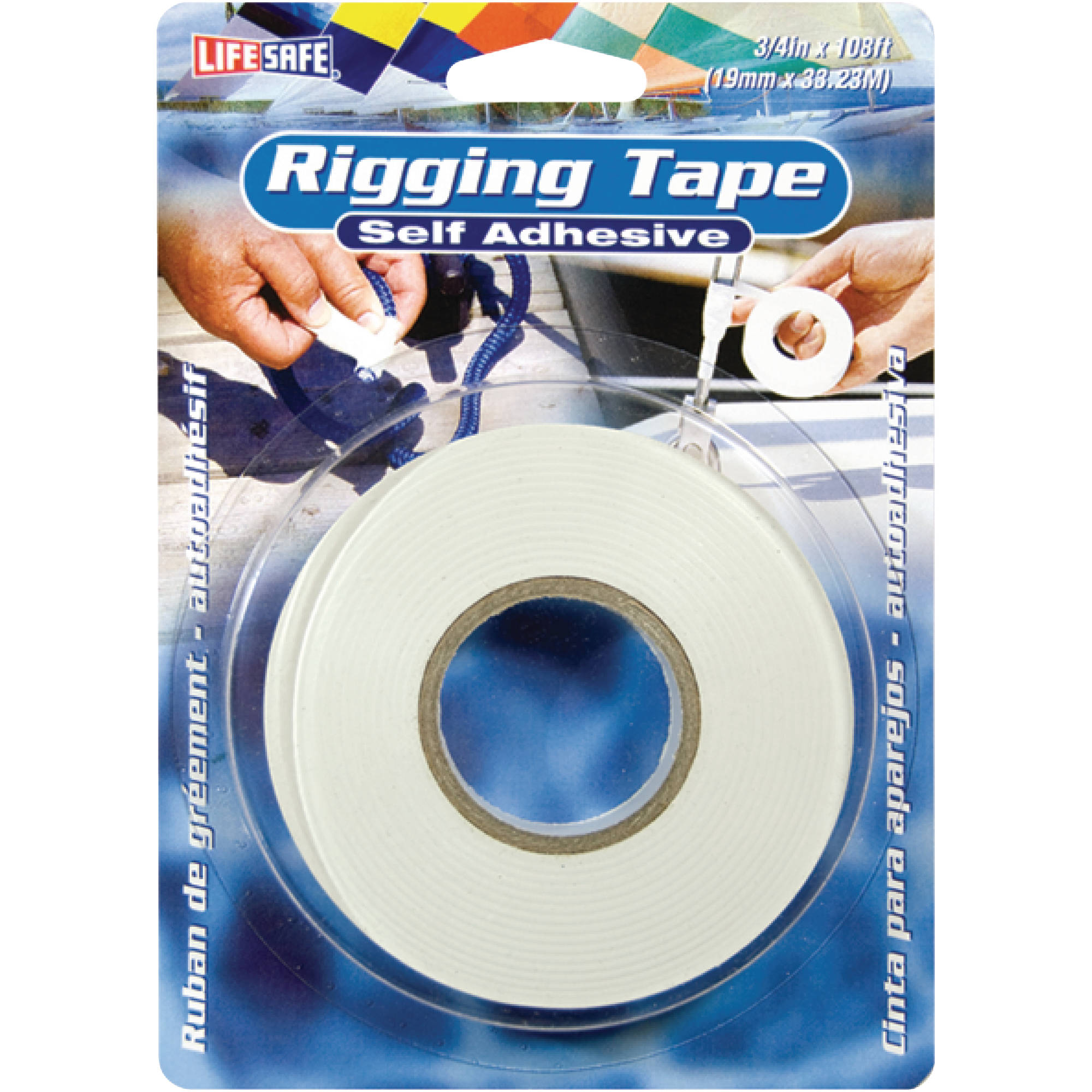 "Life Safe Rigging Tape With Adhesive 3/4"" x 108' White"