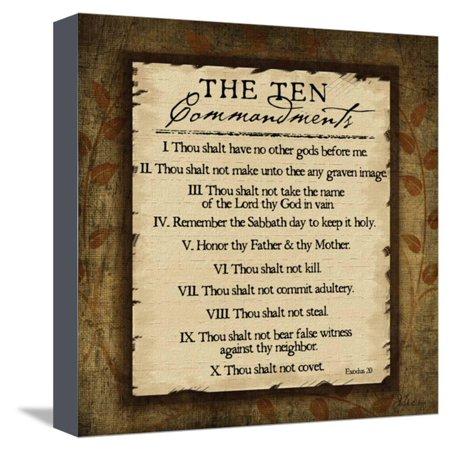 The Ten Commandments Stretched Canvas Print Wall Art By Jennifer ...