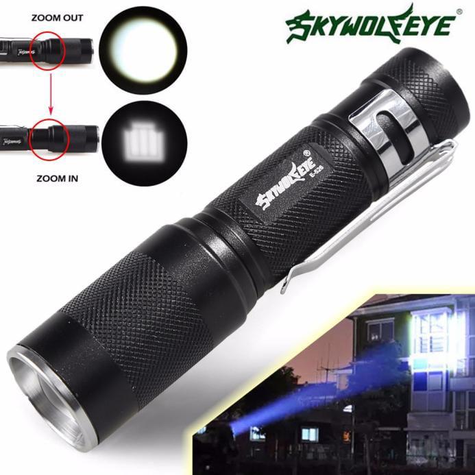 York'Street 4000LM XM-L Q5 3 Modes Zoomable LED Flashlight Super Brightness Torch Light Lamp