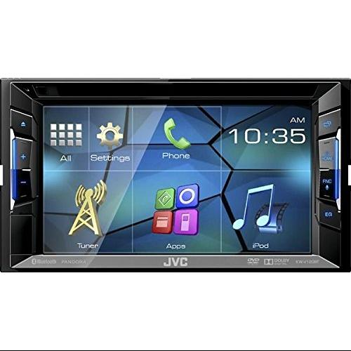 "Jvc Kw-v120bt Car Dvd Player - 6.2"" Touchscreen Lcd - 88 W Rms - Double Din - 4 Channels - Dvd+rw, Dvd-rw, Cd-rw - Dvd Video, Mpeg-1, Mpeg-2, Video Cd, Svcd - Cd-da, Mp3, Wma, Wav, Aac - (kw-v120bt)"
