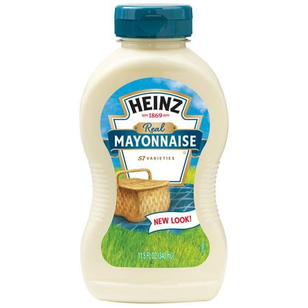 Heinz Real Mayonnaise 11 5 Fl  Oz  Bottle