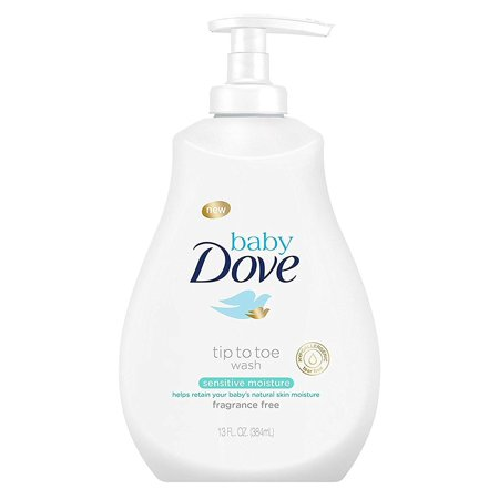 Dove Baby Tip To Toe Wash 13 Ounce Sensitive Pump (384ml) (3