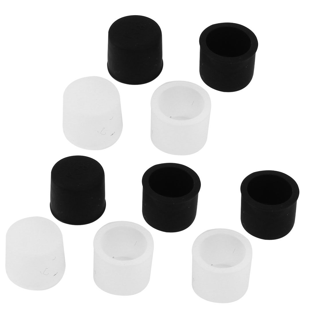 10 Pcs Black Clear Silicone RCA Female Connector Dust Proof Protector Cover