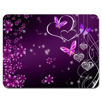 POPCreation Pink Purple Butterfly Mouse pads Gaming Mouse Pad 9.84x7.87 inches