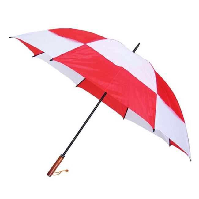 Conch Umbrellas 7862Red 60 in. Jumbo Golf Double Canopy Windproof Umbrella