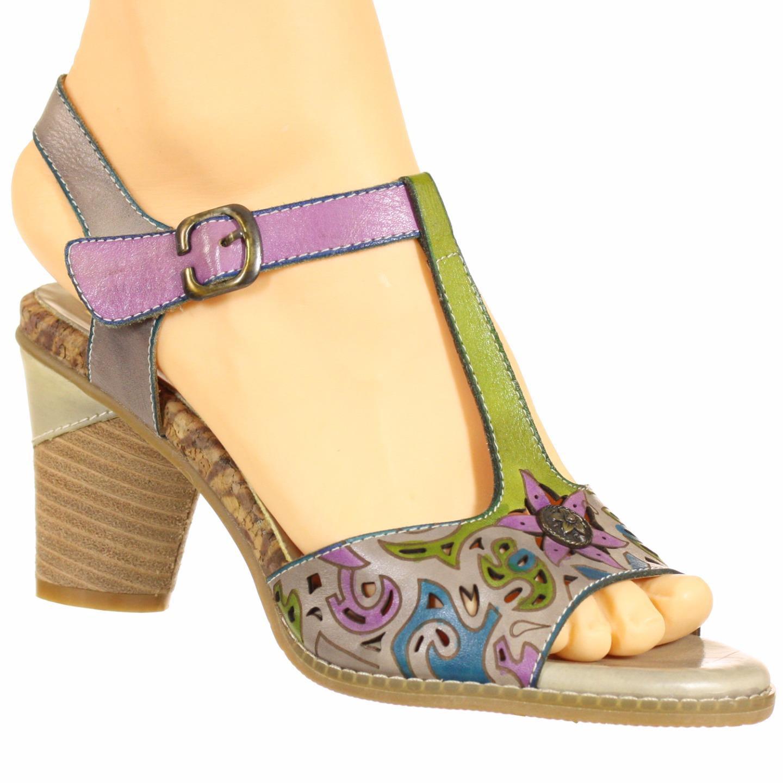 Spring Step L'Artiste Collection Hensley Women's Sandals Grey Multi EU 37 US 7