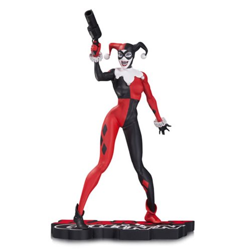 DC Comics Harley Quinn by Jim Lee Red Black and White Statue by DC Collectibles