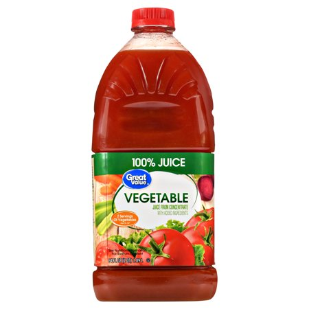(8 Pack) Great Value 100% Vegetable Juice, 64 Fl Oz, 1