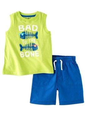 Kids Headquarters Infant Boys 2 Piece Bad To The Bone Tank Top & Shorts