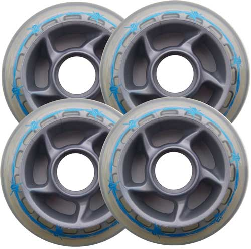 BARBED WIRE 80mm 81a OUTDOOR Inline Skate Wheels 4-Pack