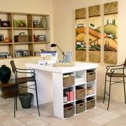 Venture Horizon Project Center 38.5'' H x 55'' W Desk with 2 Bookcases
