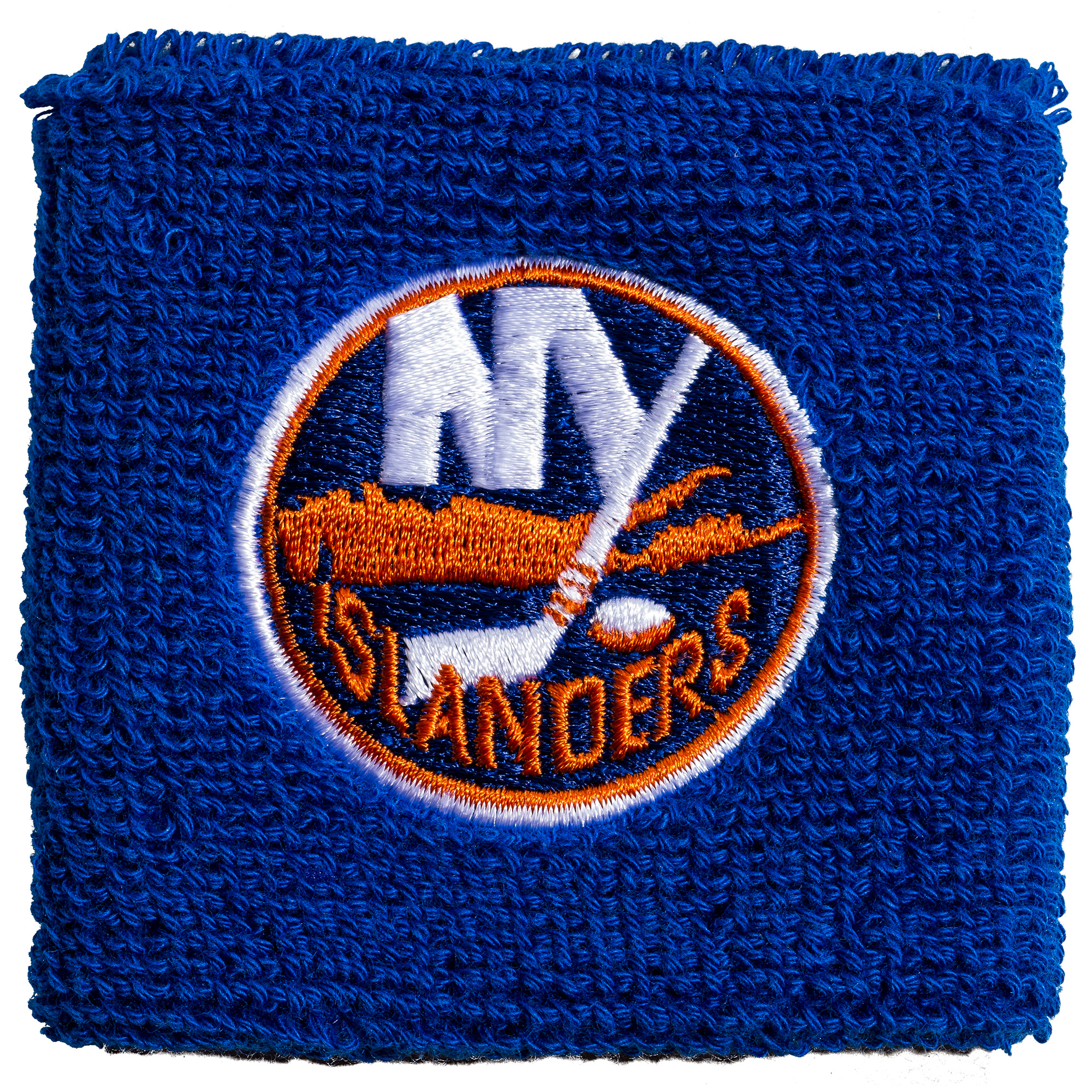 """Franklin Sports NHL New York Islanders 2.5"""" Embroidered Wristbands"""