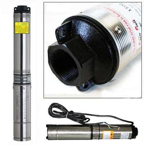 "iMeshbean 1/2 HP 4"" Deep Well Water Pump Submersible Stainless Steel 150FT 25GPM (220V 60Hz)"
