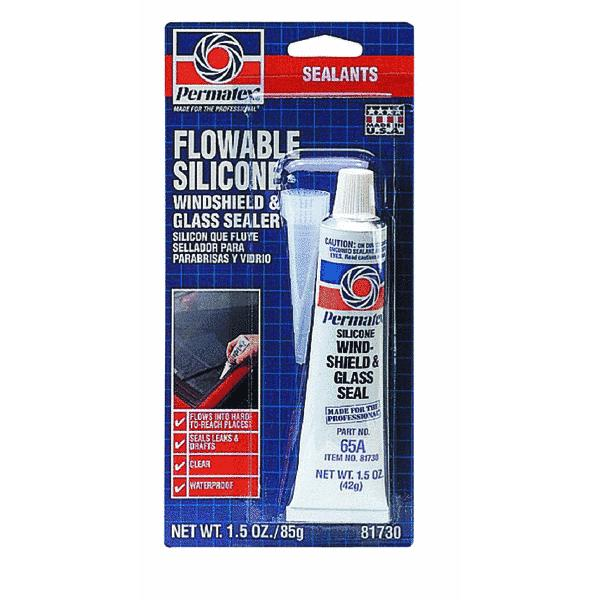 Permatex 81730 1.5 Oz Flowable Silicone Windshield & Glass Sealer
