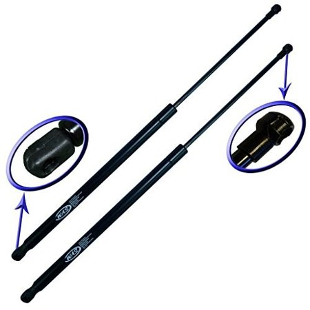 Two Rear Hatch Gas Charged Lift Supports for 2003-2005 Hyundai Accent Hatchbacks With Rear Wiper on Hatch. Left and Right Side.