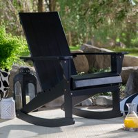 Belham Living Portside Modern Adirondack Rocking Chair - Black
