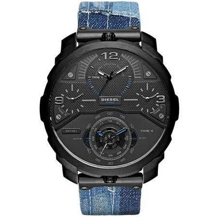 79618014 Diesel - Men's Machinus Blue Denim 4 Time Zone Oversized Watch DZ7381 -  Walmart.com