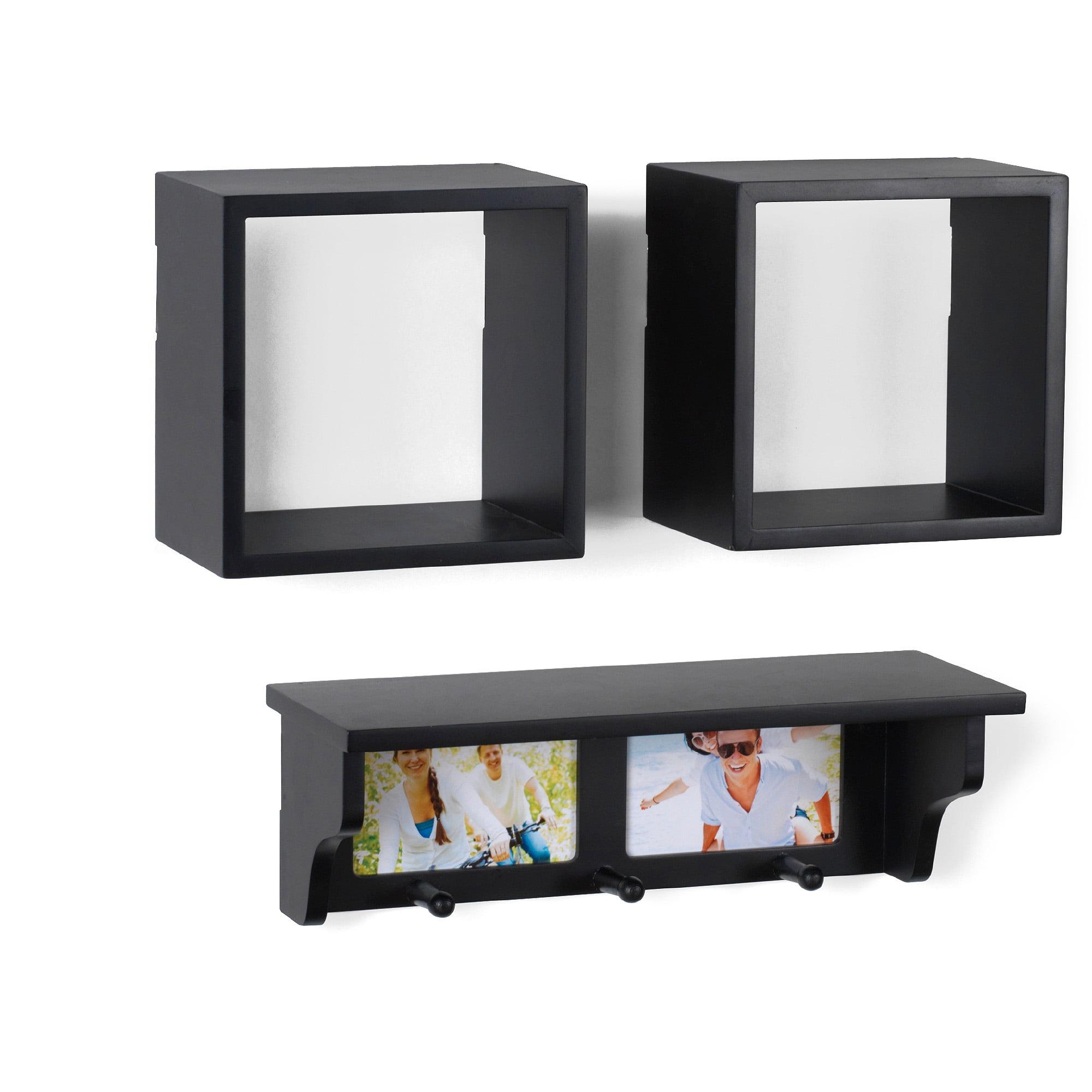 Melannco 3-Piece Shelf Set, Black
