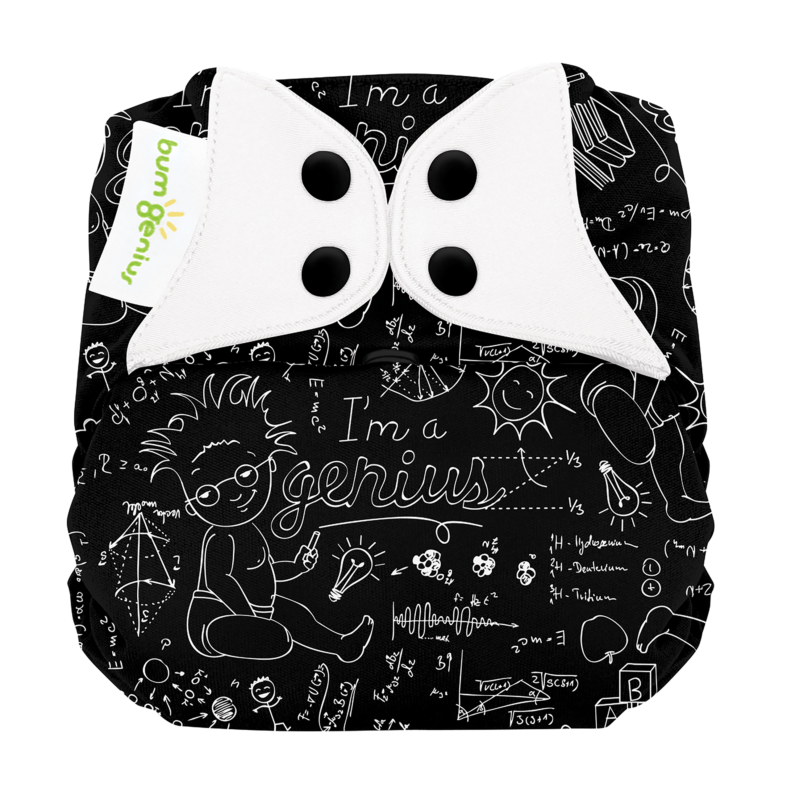 bumGenius Elemental All-In-One One-Size Organic Cotton Cloth Diaper - Albert (fits babies 8-35 lbs)