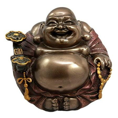 Large Lucky Buddha Zen Monk Of Wealth Prosperity Hotei Dharma Figurine Talisman](Lucky Buddha Halloween)