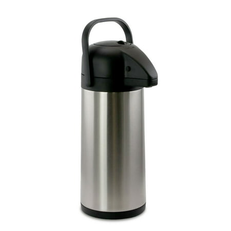 MegaChef 3L Stainless Steel Airpot, Hot Water Dispenser for Coffee and Tea Hot Water Airpot