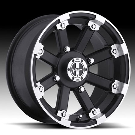 Vision Aluminum Wheel 393 Lockout Machined 14X7 P/N 393-147110Mbml4