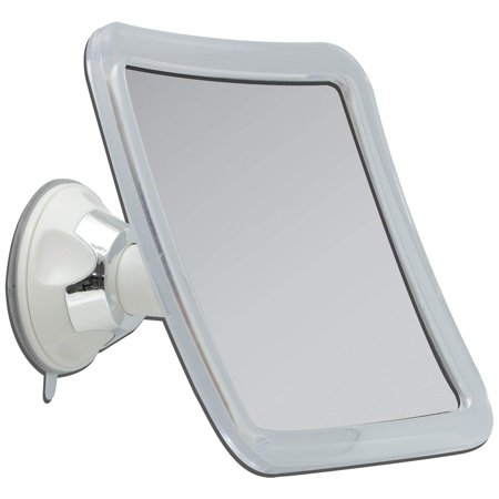 Z'swivel Power Suction Cup Mirror, White & Chrome, 4 inches high quality mirror By Zadro