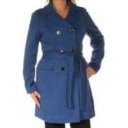 INC Womens Blue Peacoat Coat  Size: S