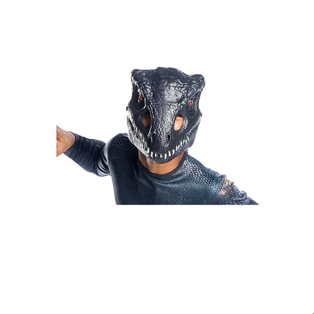 Jurassic World: Fallen Kingdom Villain Dinosaur Vacuform 1/2 Mask Halloween Costume - Old Lady Halloween Mask With Scarf