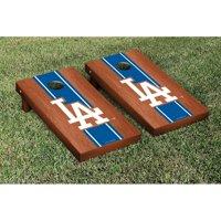 Los Angeles Dodgers 2' x 4' Rosewood Cornhole Board Tailgate Toss Set