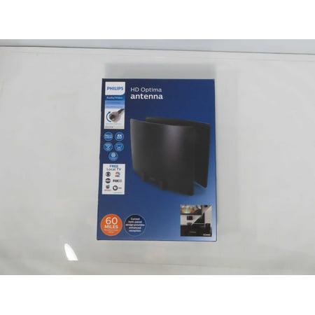 Refurbished Philips Optima Indoor HD TV Antenna, Long Range, Signal Enhancer Reflector Panel, Digital, HDTV Antenna, Smart TV Compatible, 4K
