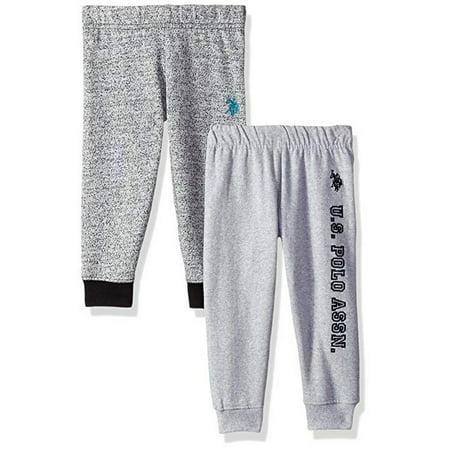 Boutique Clothes For Boys (U.S. Polo Assn. Little Boys Heather Gray 2 Pack Fleece Casual Pants Set)