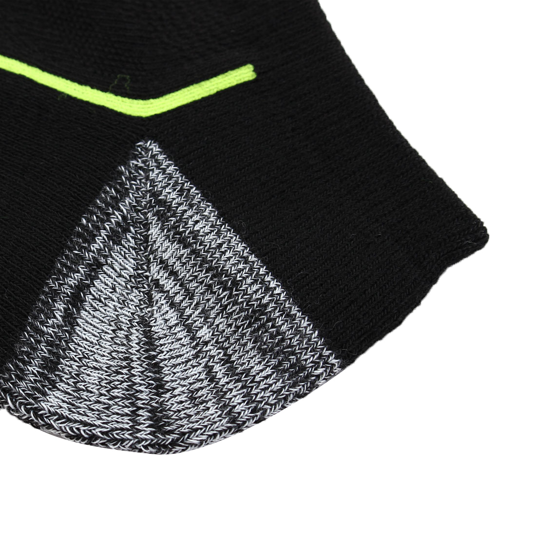 Men Jogging Running Low Cut Athletic Sports Casual Ankle Socks Black Yellow Pair - image 2 de 5