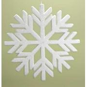 "Roman 18.75"" Snowy Winter Flocked Commercial Sized Geometric Snowflake Christmas Ornament - White"