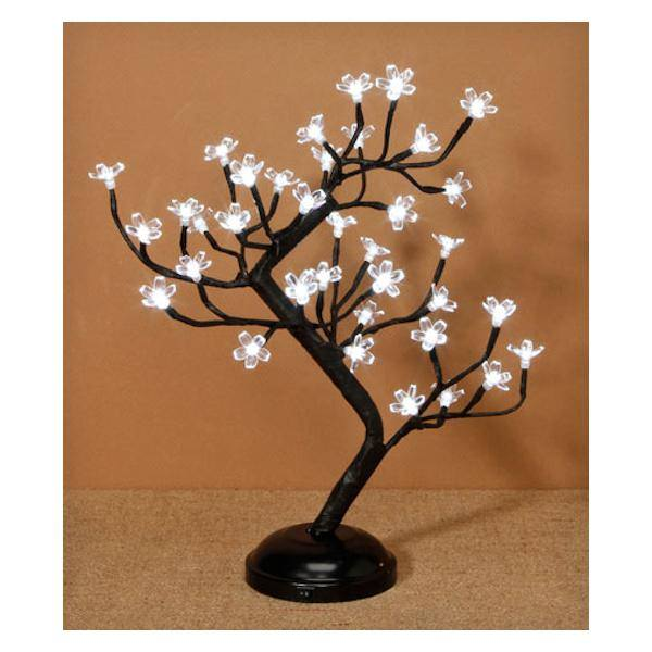 Lighted Cherry Tree with Black Branches: 17 Inches, 36 LED Lights
